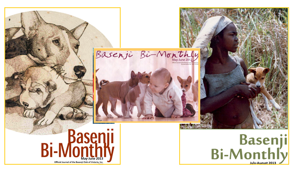 Basenji Bi-monthly covers